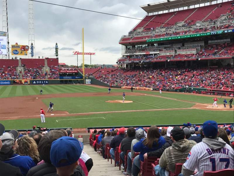 Seating view for Great American Ball Park Section 115 Row FF Seat 1