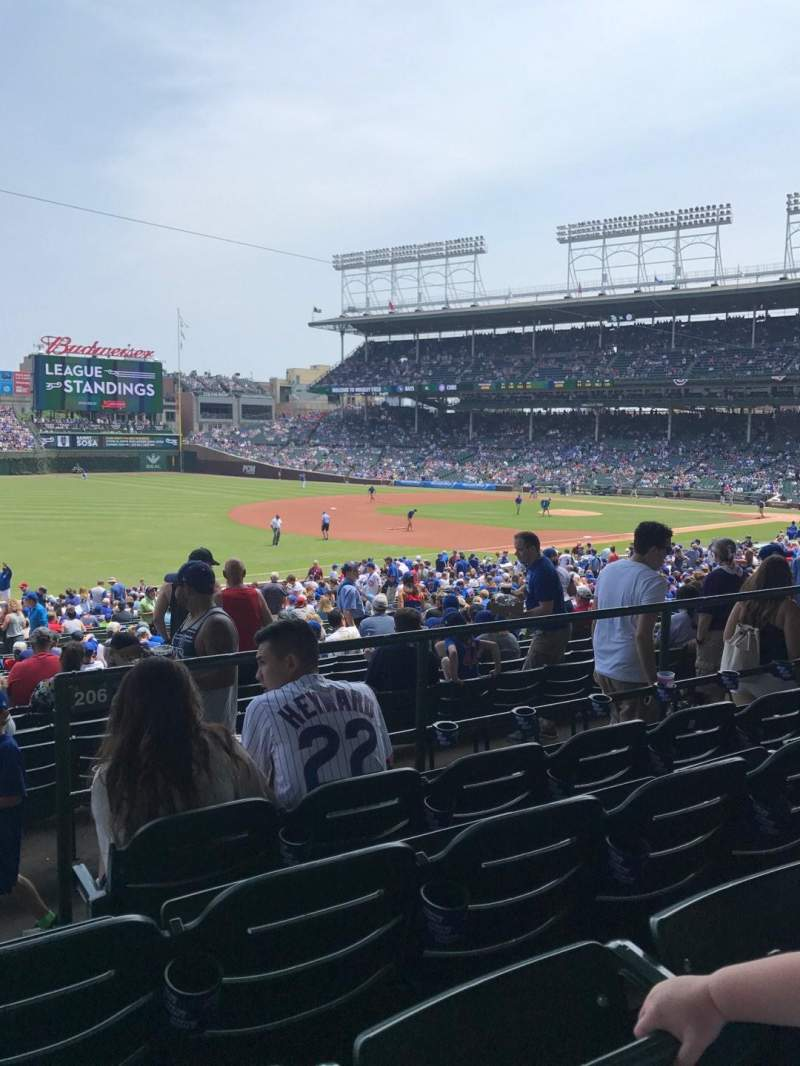 Seating view for Wrigley Field Section 206 Row 4 Seat 1