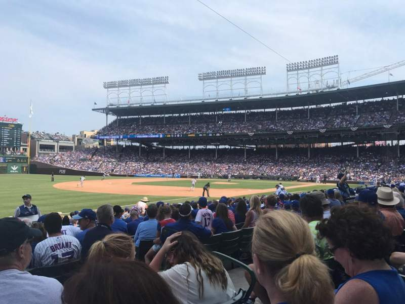 Seating view for Wrigley Field Section 108 Row 4 Seat 4