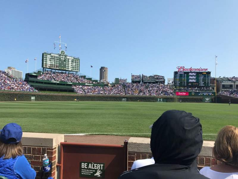 Seating view for Wrigley Field Section 7 Row 3 Seat 1