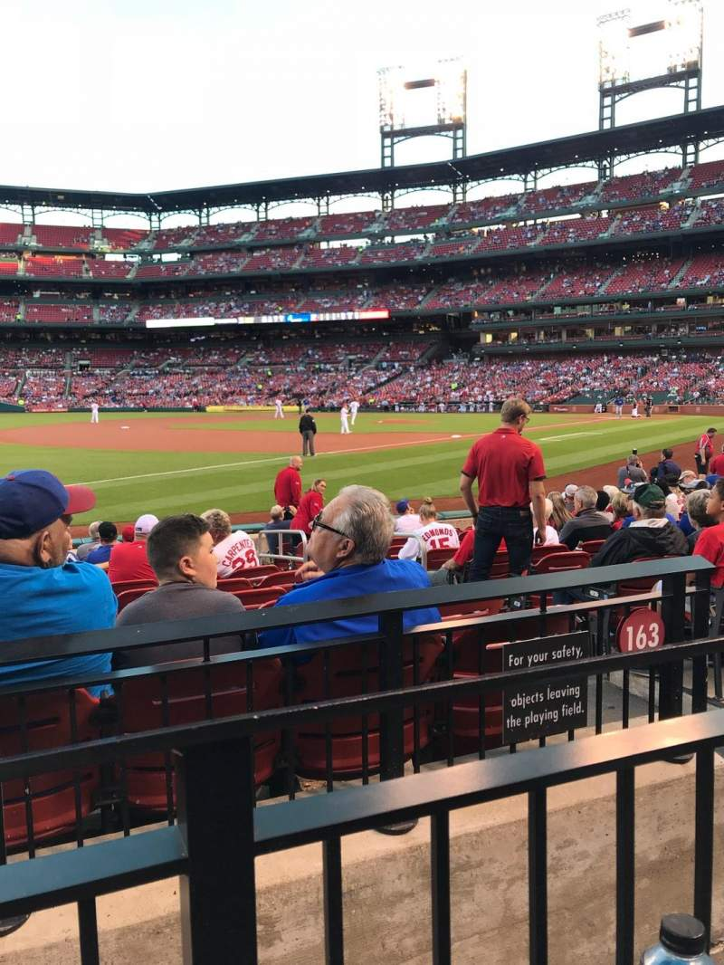 Busch Stadium, section 163, home of St. Louis Cardinals