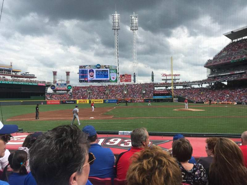 Great American Ball Park, section: 116, row: J, seat: 4