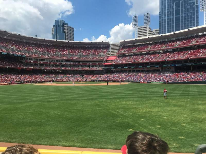 Great American Ball Park, section: 145, row: D, seat: 3