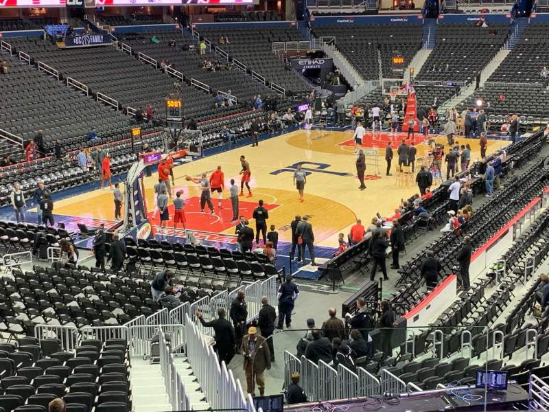 Seating view for Capital One Arena Section 118 Row V Seat 19
