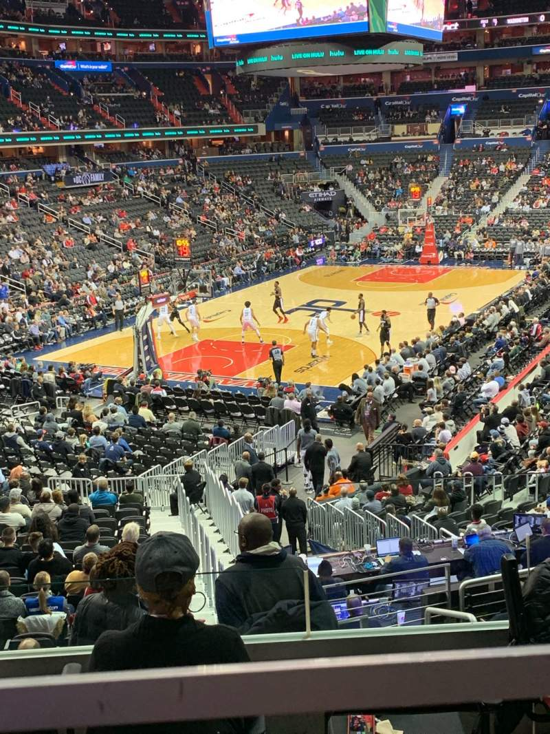 Seating view for Capital One Arena Section 118 Row V Seat 18