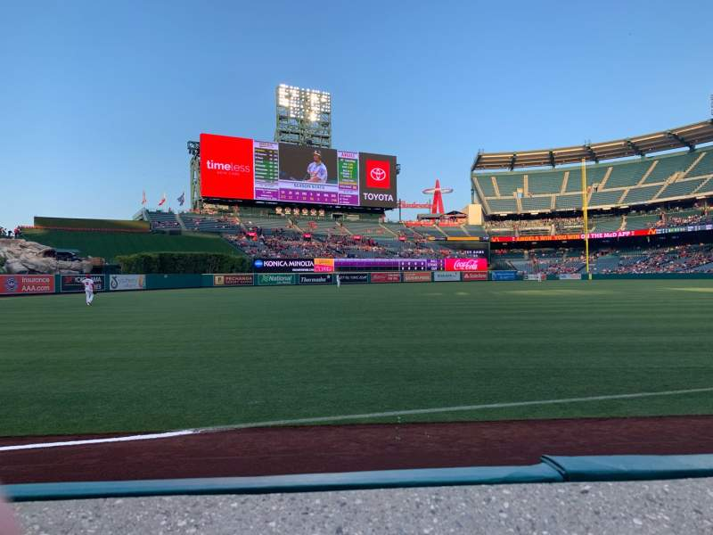 Seating view for Angel Stadium Section F106 Row A Seat 11