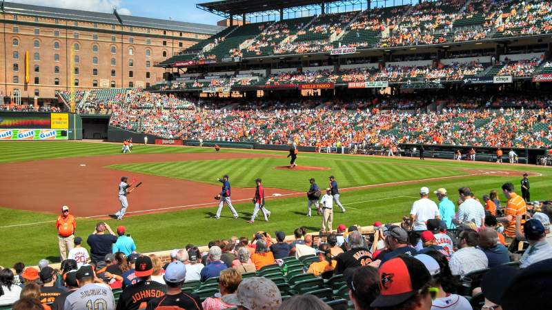 Seating view for Oriole Park at Camden Yards Section 58 Row 17 Seat 13