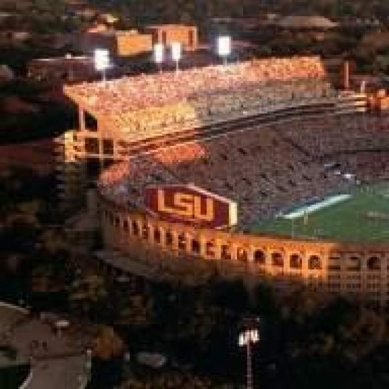 Seating view for LSU