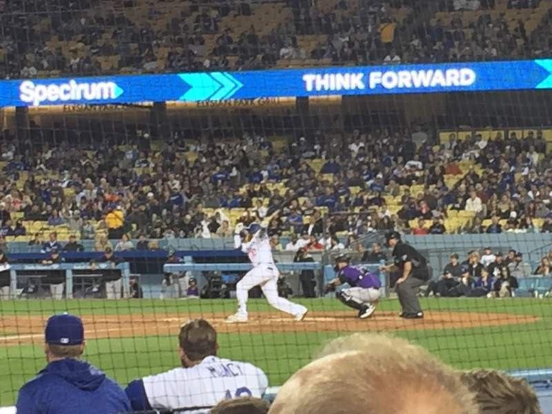 Seating view for Dodger Stadium Section 13DG Row DD Seat 12