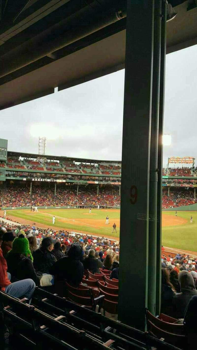 Seating view for Fenway Park Section Grandstand 9 Row 4 Seat 8