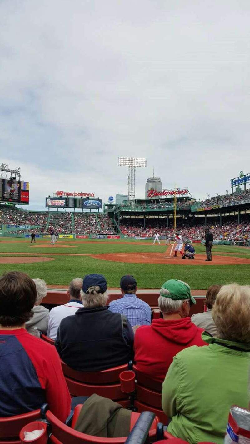 Seating view for Fenway Park Section Field Box 51 Row C Seat 4