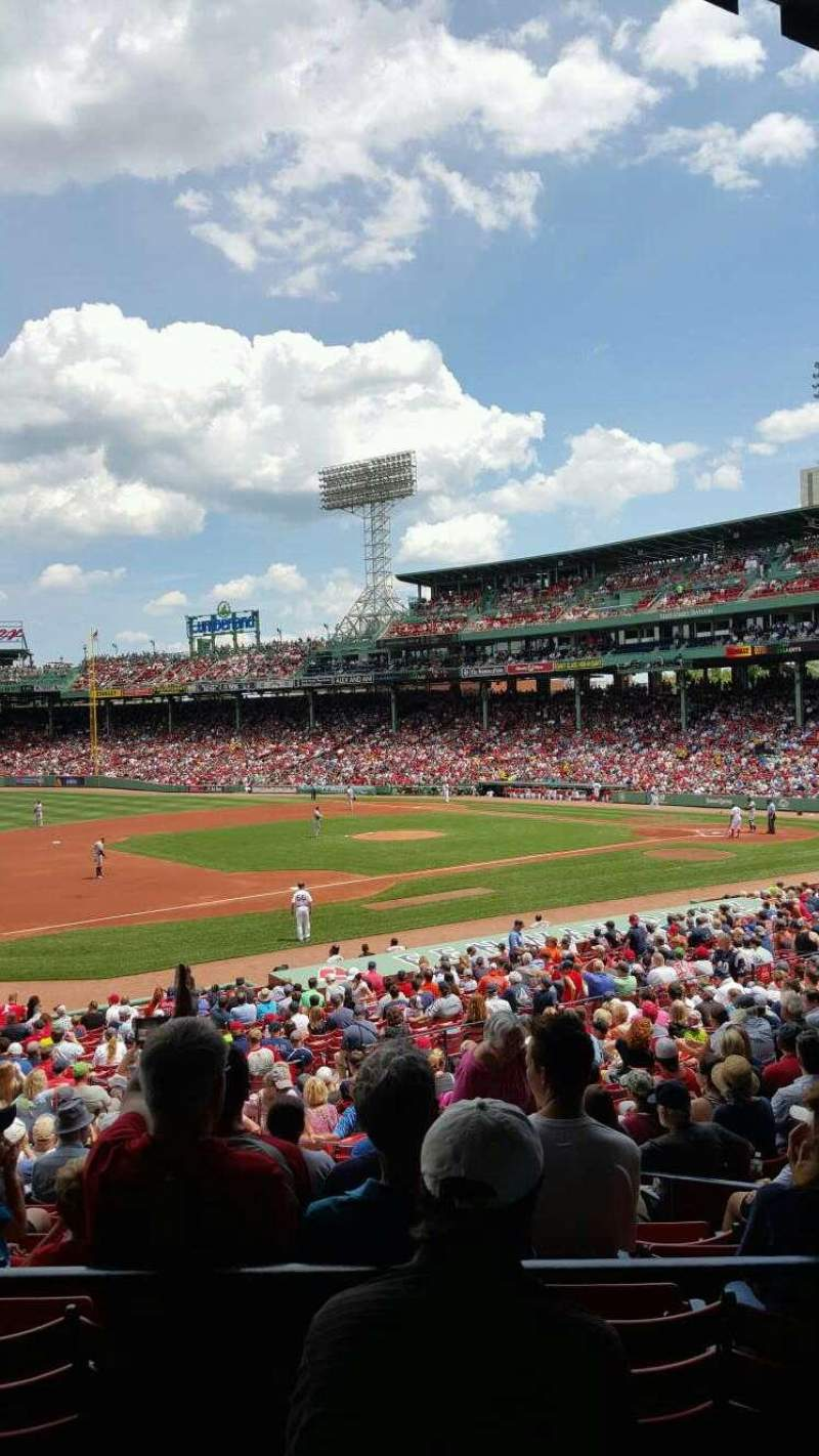 Seating view for Fenway Park Section Grandstand 29 Row 3 Seat 7
