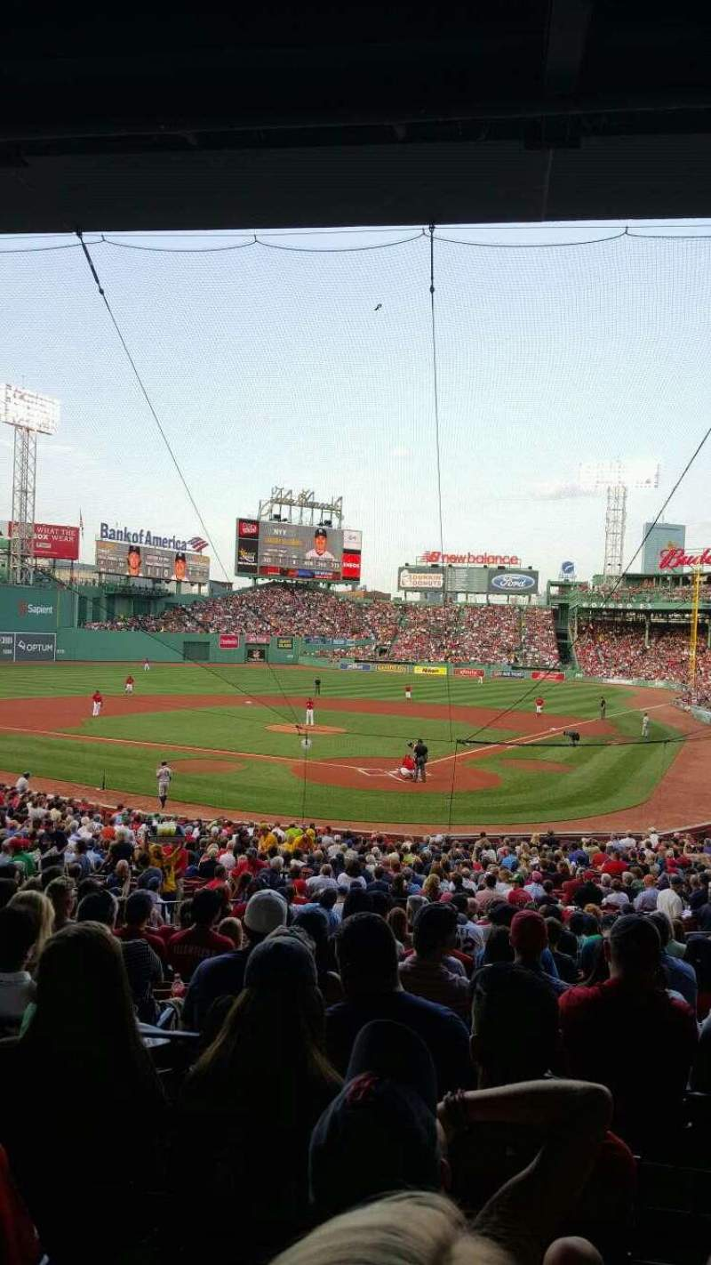 Seating view for Fenway Park Section Grandstand 22 Row 5 Seat 12
