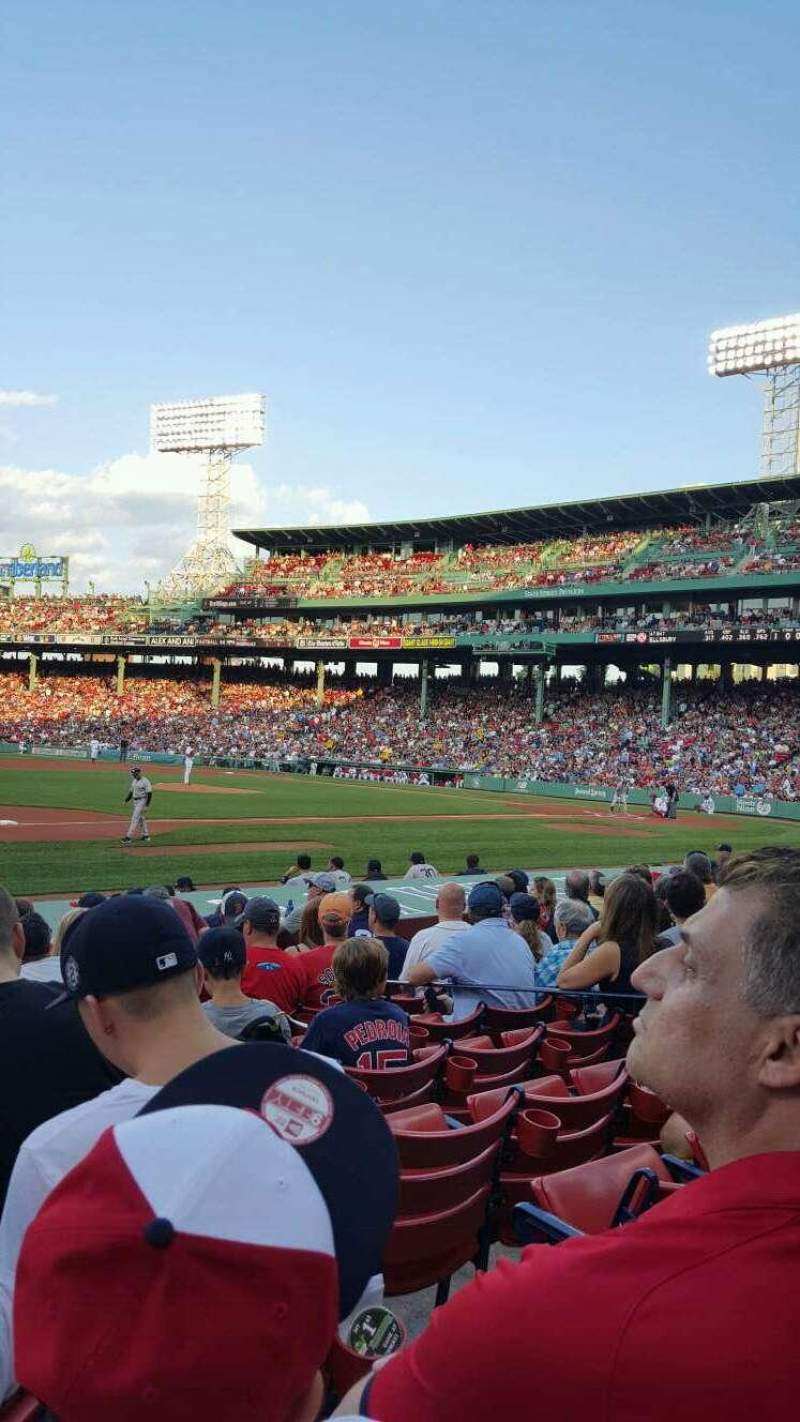 Seating view for Fenway Park Section Field Box 69 Row M Seat 3
