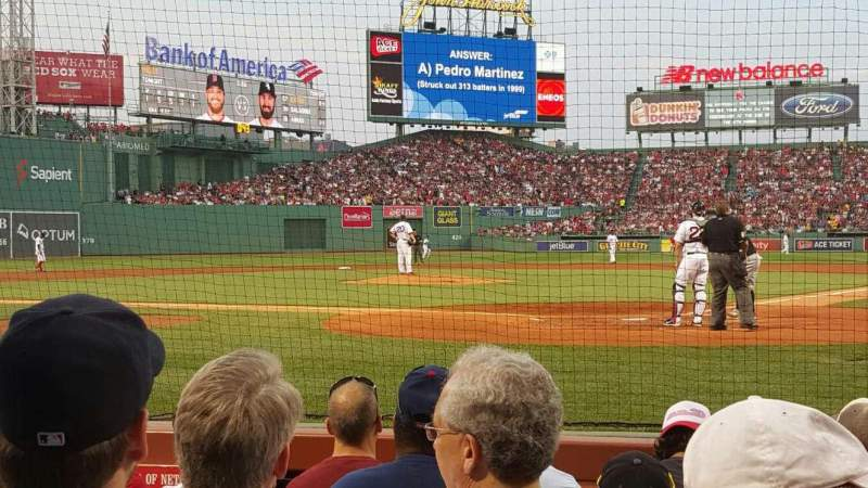 Seating view for Fenway Park Section Field Box 47 Row C Seat 5