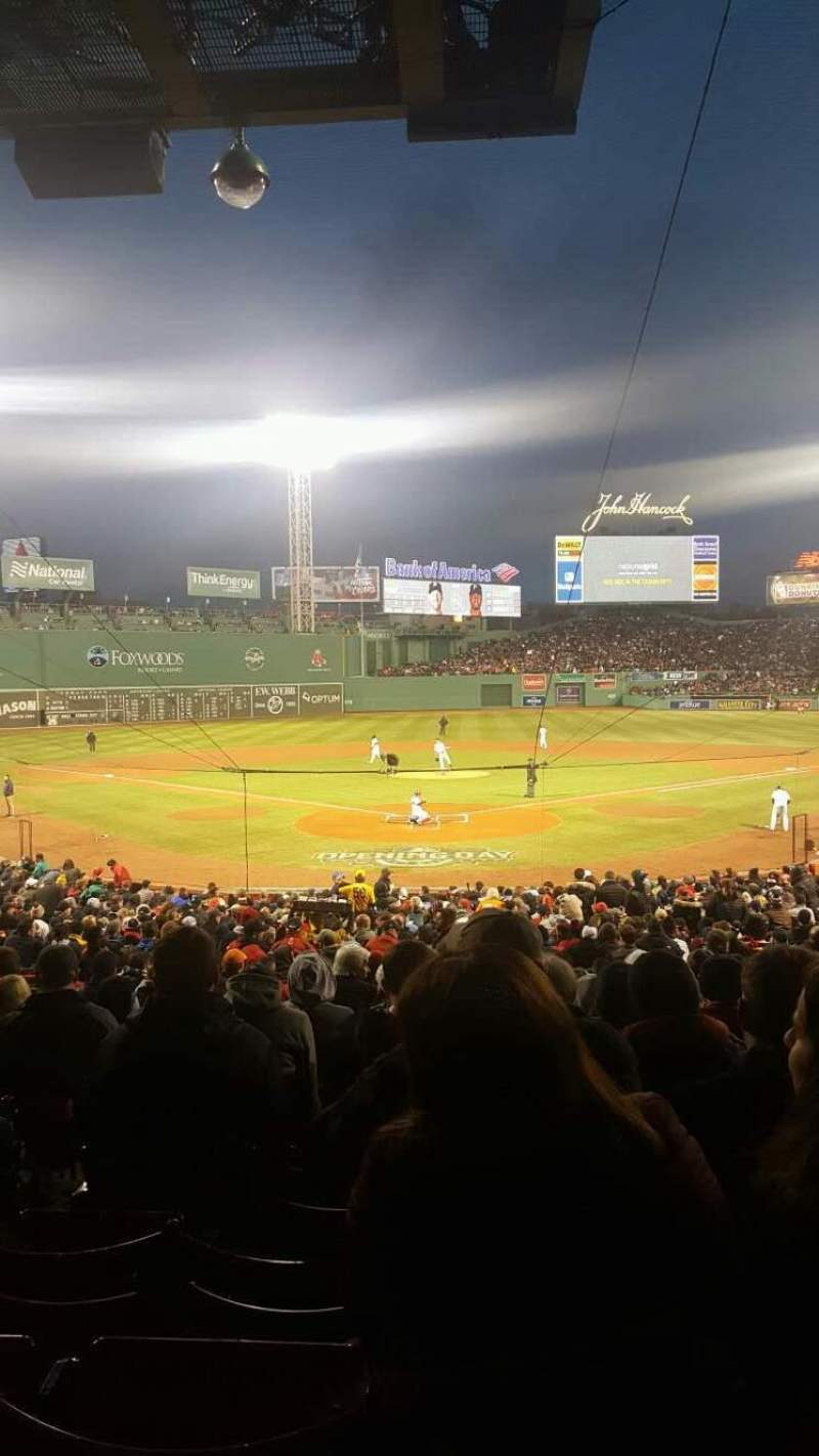 Seating view for Fenway Park Section Grandstand 20 Row 1 Seat 15