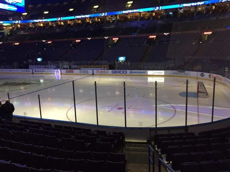 Seating view for Scottrade Center Section 114 Row M Seat 1