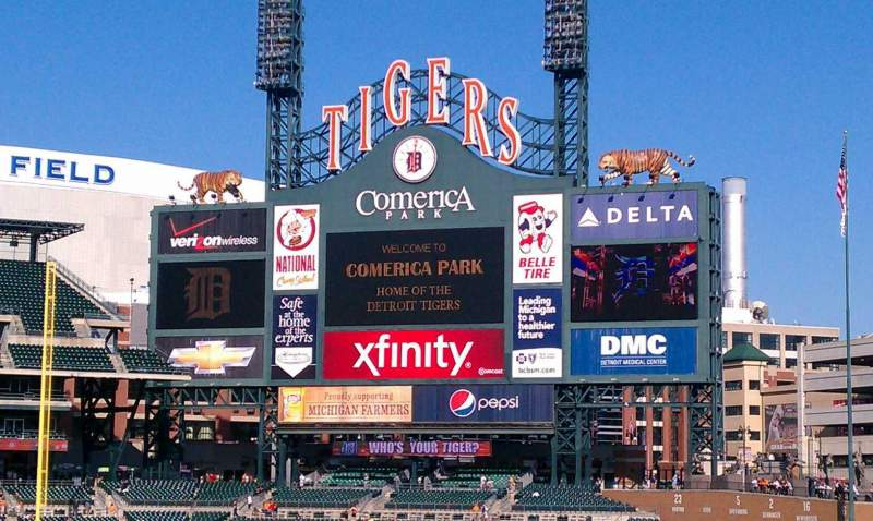 Seating view for Comerica Park Section 113 Row 1 Seat 6