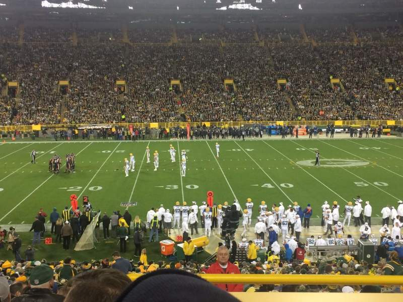 Seating view for Lambeau Field Section 116 Row 35 Seat 1