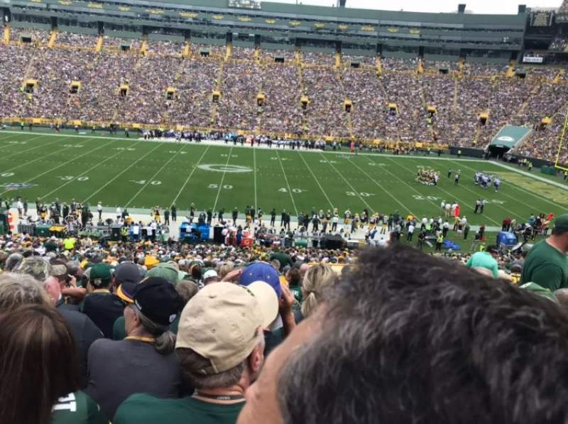 Seating view for Lambeau Field Section 120 Row 47 Seat 19,20