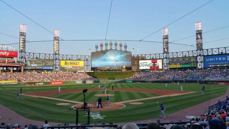 Seating view for Guaranteed Rate Field Section 132 Row 20 Seat 4