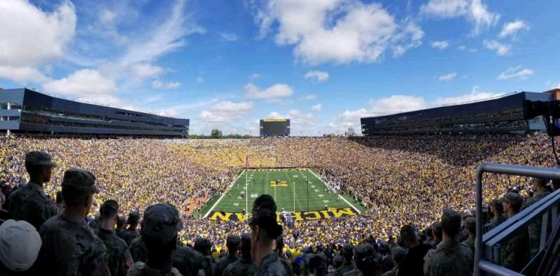 Seating view for Michigan Stadium Section 12 Row 95 Seat 7