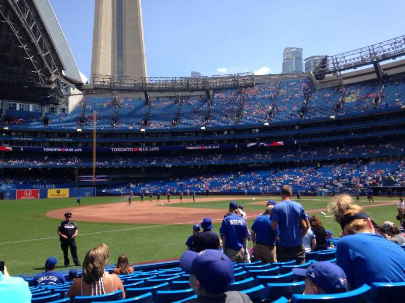 Seating view for Rogers Centre Section 129L Row 11 Seat 109