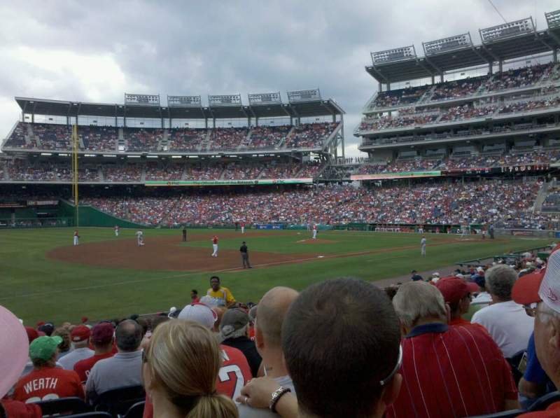 Seating view for Nationals Park Section 112 Row X Seat 8