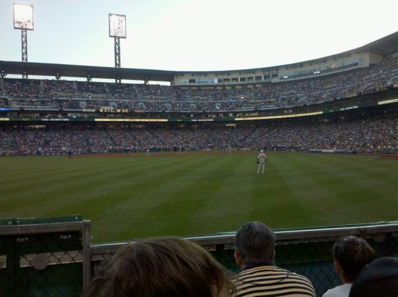 Seating view for PNC Park Section 136 Row C Seat 24