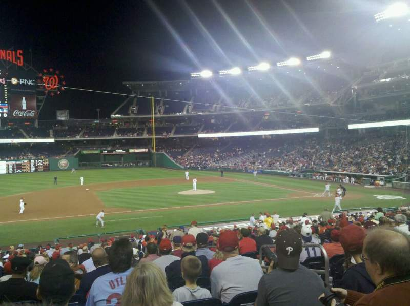Seating view for Nationals Park Section 115 Row JJ Seat 5