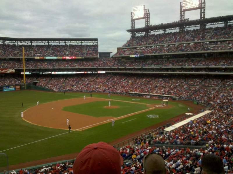 Seating view for Citizens Bank Park Section 233 Row 3 Seat 9