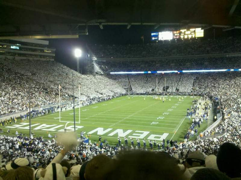 Seating view for Beaver Stadium Section ND Row 58 Seat 23