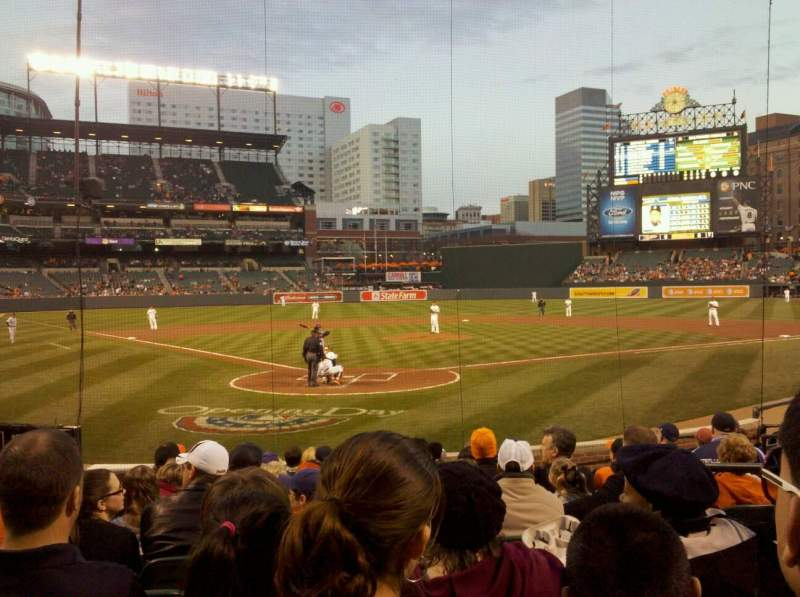 Seating view for Oriole Park at Camden Yards Section 34 Row 13 Seat 3