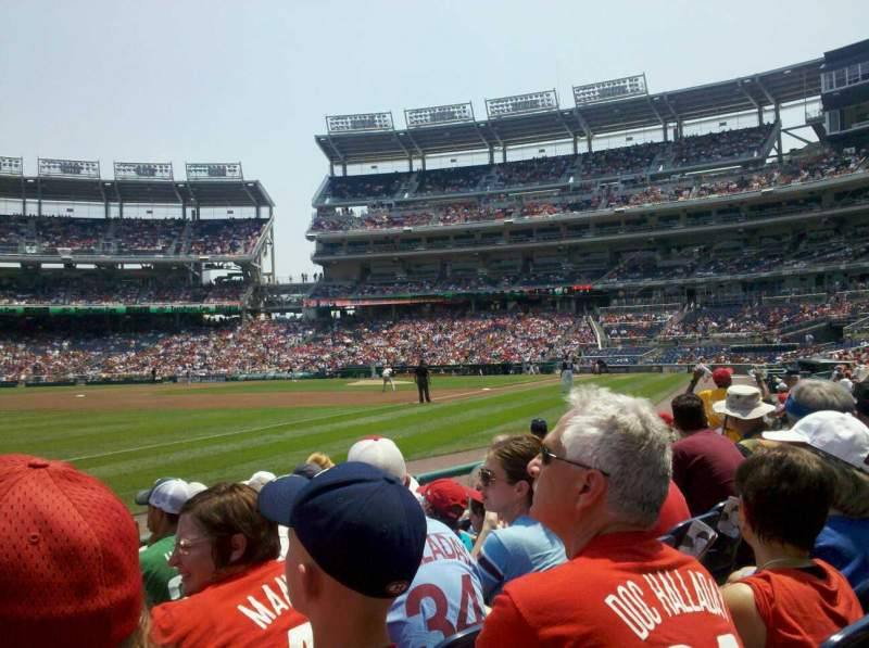 Seating view for Nationals Park Section 111 Row F Seat 11