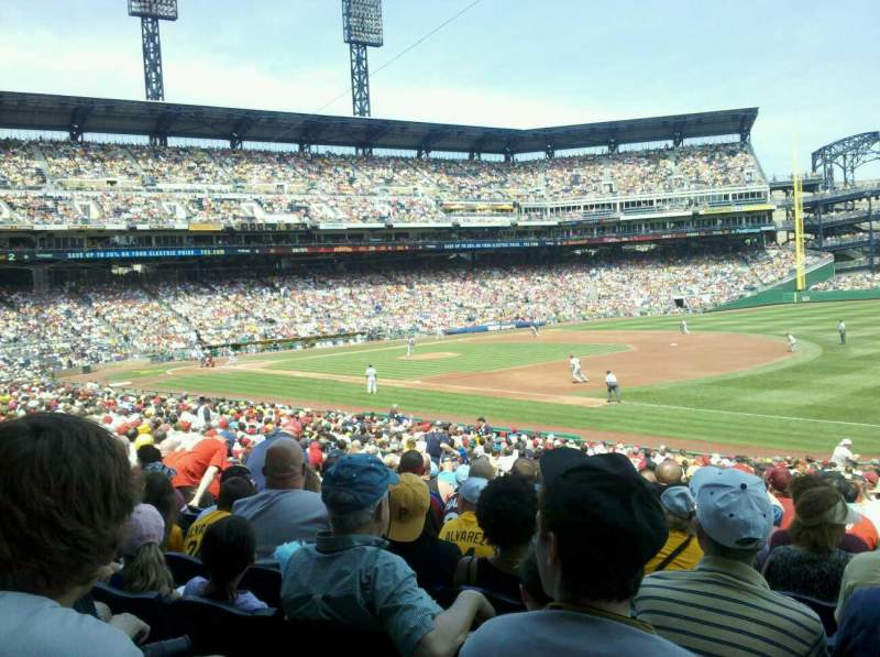 Seating view for PNC Park Section 105 Row T Seat 3