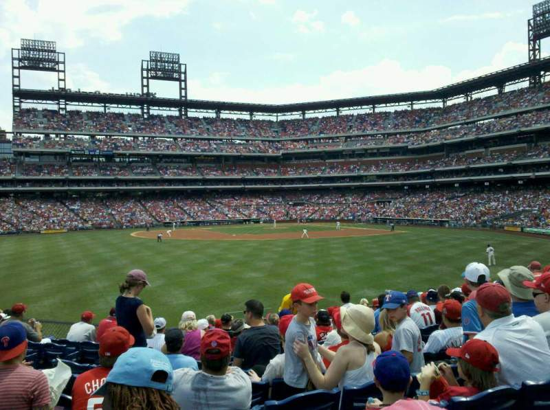 Seating view for Citizens Bank Park Section 146 Row 14 Seat 8