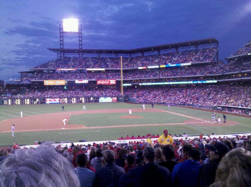 Seating view for Citizens Bank Park Section 131 Row 28 Seat 6