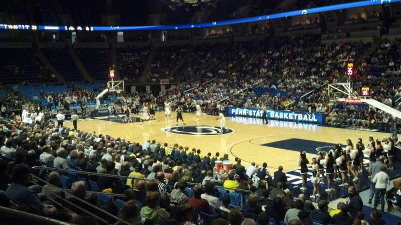 Seating view for Bryce Jordan Center Section 102 Row D Seat 107
