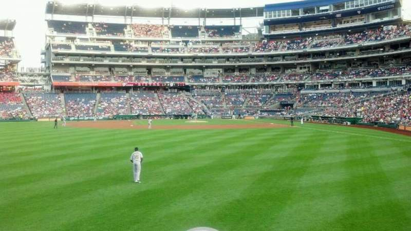 Seating view for Nationals Park Section 103 Row B Seat 7