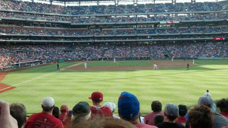 Seating view for Citizens Bank Park Section 105 Row 8 Seat 9