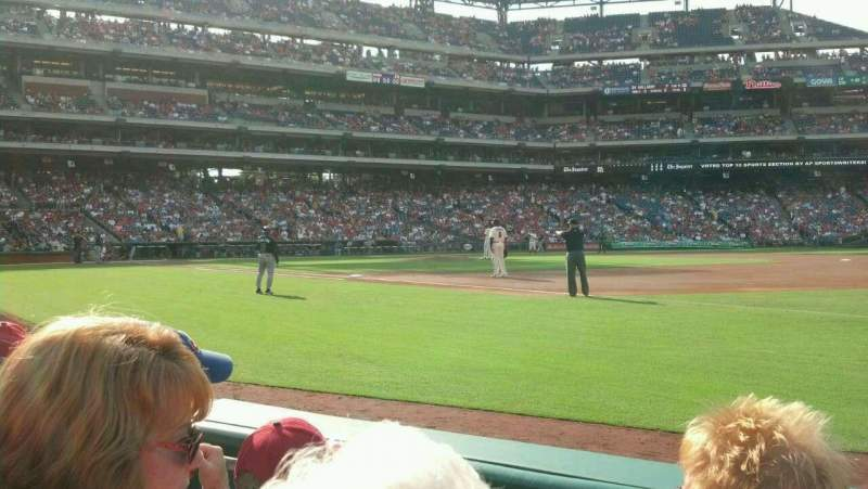 Seating view for Citizens Bank Park Section 112 Row 3 Seat 12