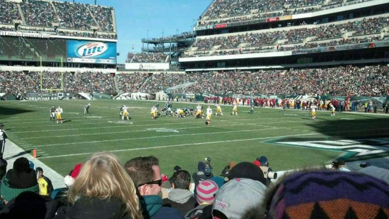 Seating view for Lincoln Financial Field Section 108 Row 7 Seat 7