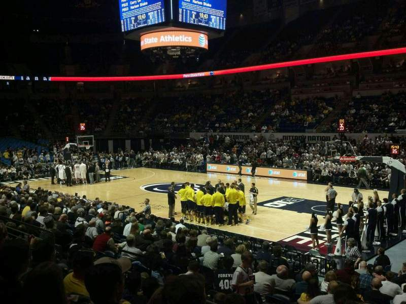 Seating view for Bryce Jordan Center Section 103 Row E Seat 2