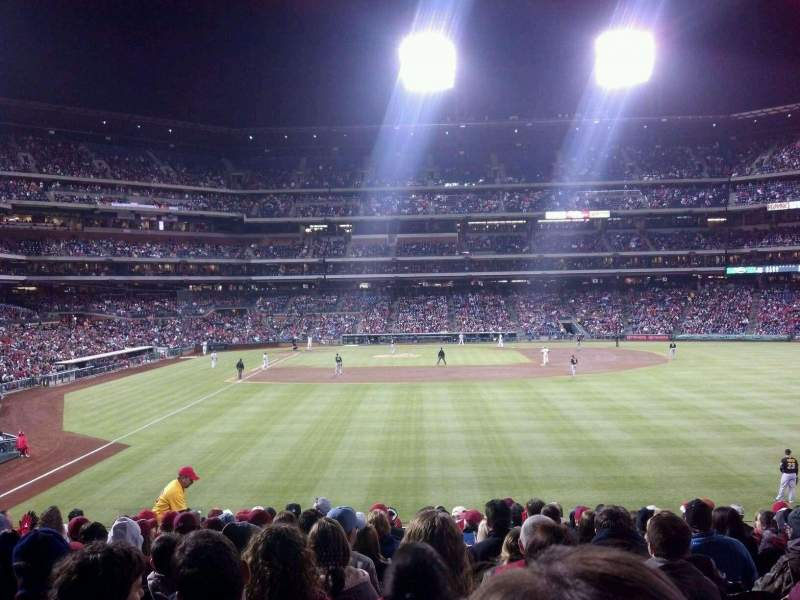Seating view for Citizens Bank Park Section 105 Row 15 Seat 14