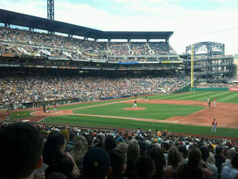 Seating view for PNC Park Section 108 Row W Seat 17