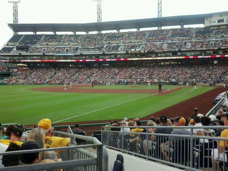 Seating view for PNC Park Section 131 Row A Seat 2