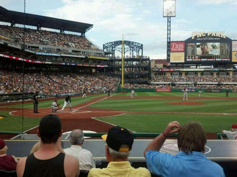 Seating view for PNC Park Section 13 Row L Seat 2