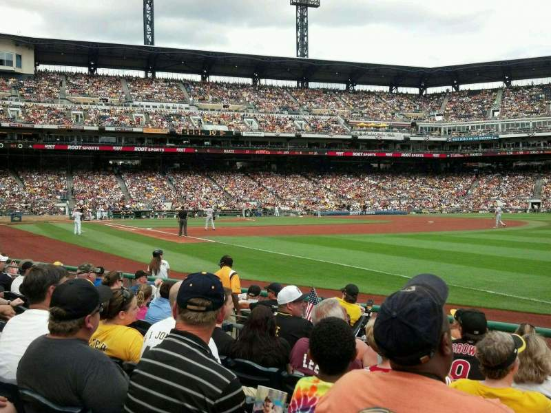 Seating view for PNC Park Section 2 Row J Seat 5