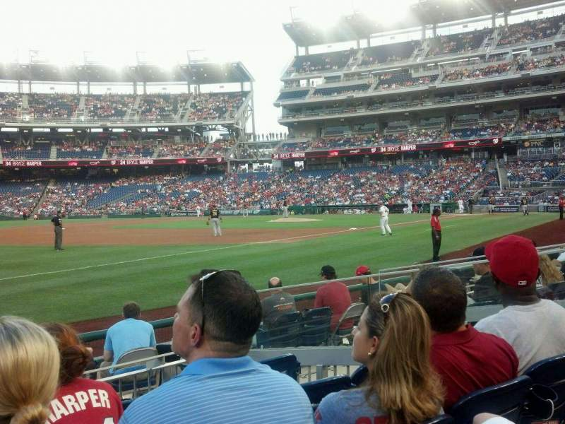 Seating view for Nationals Park Section 112L Row H Seat 19