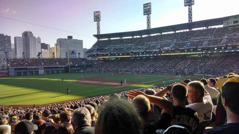Seating view for PNC Park Section 129 Row Z Seat 6